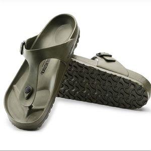 Khaki BIRKENSTOCK Gizeh sandal in EVA material